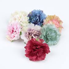 flowers for hair trail order 7pcs lot 2 4 artificial peony flower for hair