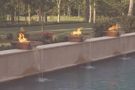 Interior Water Features Firepits