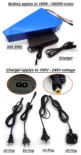 rechargeable 60v 20ah li ion battery pack for 1800w electric bike