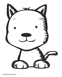 cute baby cat coloring pages coloring pages