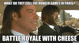 Games Meme - hunger games battle royale with cheese meme arthur on youth literature