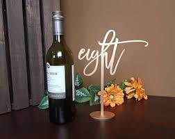 gold wine bottle table numbers gold table numbers etsy