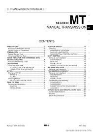 nissan 350z 2007 z33 manual transmission workshop manual