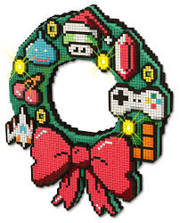 Holiday Wreath 8 Bit Led Holiday Wreath Thinkgeek