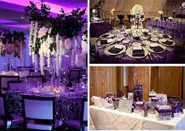 Purple Wedding Centerpieces Black And Purple Wedding Archives Happyinvitation Com Invitation