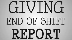 Shift Report Sheet Template Working Giving End Of Shift Report