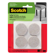 48 round table protector pads shepherd 2 in anti skid pads 8 pack 9971 the home depot