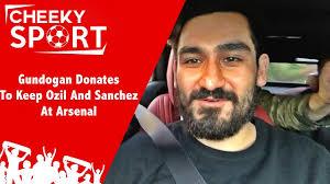 alexis sanchez snapchat gundogan donates to find mesut ozil keep alexis sanchez at arsenal