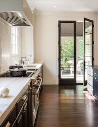black french kitchen doors transitional kitchen