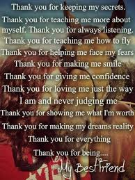 thank you quotes for friends thank you letter to a dear friend