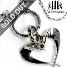 gothic heart necklace images Gothic fairy tale necklaces heart charms silver cross pendants jpg