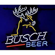 busch light neon sign urby busch beer deer real glass neon light sign home beer bar pub