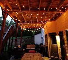Covered Patio Lighting Ideas Lighting Ideas Patio Lighting Idea With Led Rope Lights