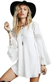 dress boho boho dress white dress homecoming dress trendy