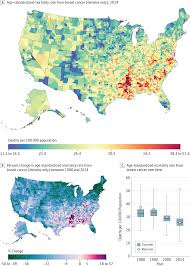 Michigan Map By County by Disparities In Cancer Mortality Among Us Counties 1980 2014