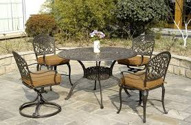 Patio Furniture Swivel Chairs Tuscany By Hanamint Luxury Cast Aluminum Patio Furniture Swivel