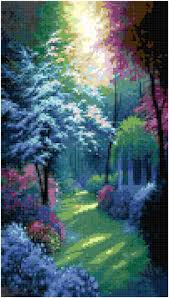 home decoration pdf cross stitch beautiful secluded garden pattern design chart nature