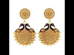 design of earrings gold peacock design gold earrings jewellery models