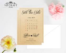 rustic save the date cards set of 10 vip craft studio