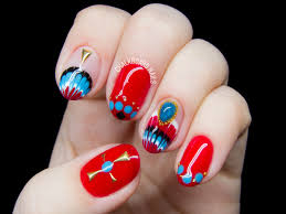 east asia meets the southwest embellished gel nail art