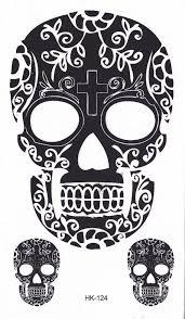 sugar skull temporary black henna sugar skulls and hennas