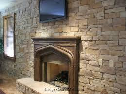 good stone wall fireplace on interior with 52