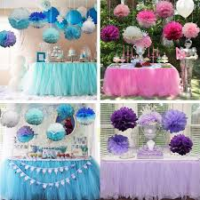 background decoration for birthday party at home amazing diy tulle table skirt about baby shower birthday party