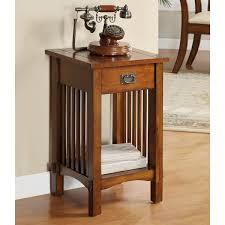 crandon mission style oak finish end table u2013 24 7 shop at home