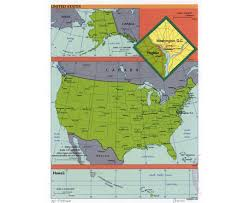 The United States And Canada Political Map by Maps Of Usa Detailed Map Of United States Of America In English