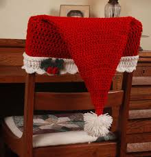 christmas chair back covers crochet patterns crochet christmas patterns crochet santa hat