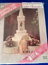 wedding cake kit wilton cathedral church kit cake decorating wedding cake topper
