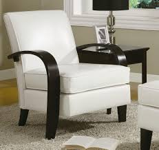 White Leather Bedroom Chair Roundhill Furniture