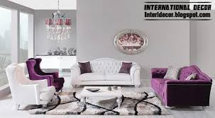 Modern Luxury Sofa International Living Room Ideas With Purple Furniture 2014