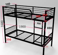 steel double decker kid bunk bed colorful metal children bed