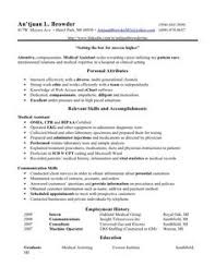 Medical Scribe Resume Example by Medical Assistant Resume Cover Letter Medical Assistant Resume