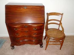 image of drop front secretary desk with hutch