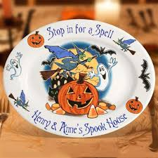 personalized platter personalized platters 13 spook house serving platter