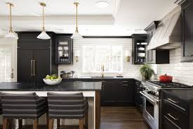 two tone kitchen cabinets with black countertops 7 ways to pair kitchen cabinets with counters