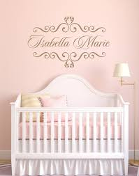 baby nursery decor decals shabby chic baby name decals for