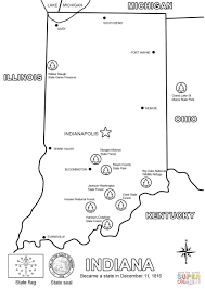 indiana map coloring page free printable coloring pages