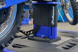 motocross bike lift polisport plastics foldable lift stand motocross press