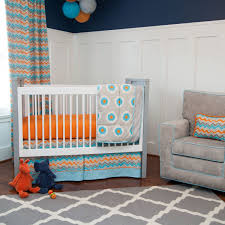 orange blue and brown crib bedding u2022 baby bed