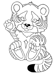 tiger baby coloring free printable coloring pages