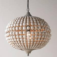 bohemian wood bead pendant light lighting pinterest pendant