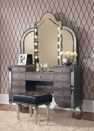 Michael Amini Office Furniture by Michael Amini Aico Hollywood Swank Vanity With Mirror