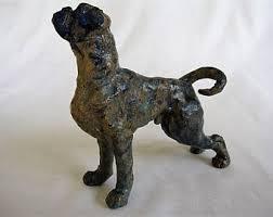 boxer dog statue ceramic boxer etsy
