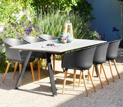 Durable Patio Furniture Table Fausing L205cm 4 Chairs Varming Gardens West Wittering