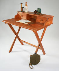 Building A Wooden Desk by Campaign Desk Might Work In A Small Space Via Manchester Wood