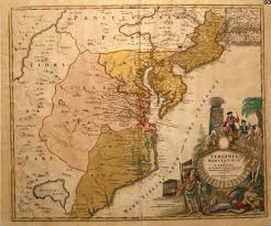 Virginia Map With Cities And Towns by Circa 1714 Map Of Maryland Virginia And Carolina