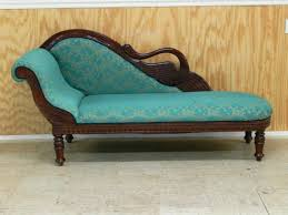 Fainting Bench Swan Back Vintage Style Fainting Couch Chaise